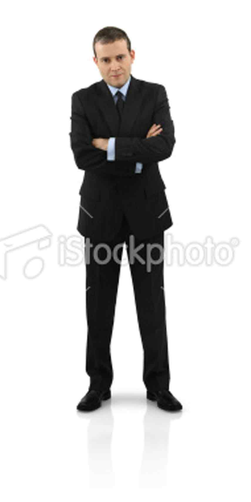 businessman standing on white background ... and has given many generations of families both education and joy.