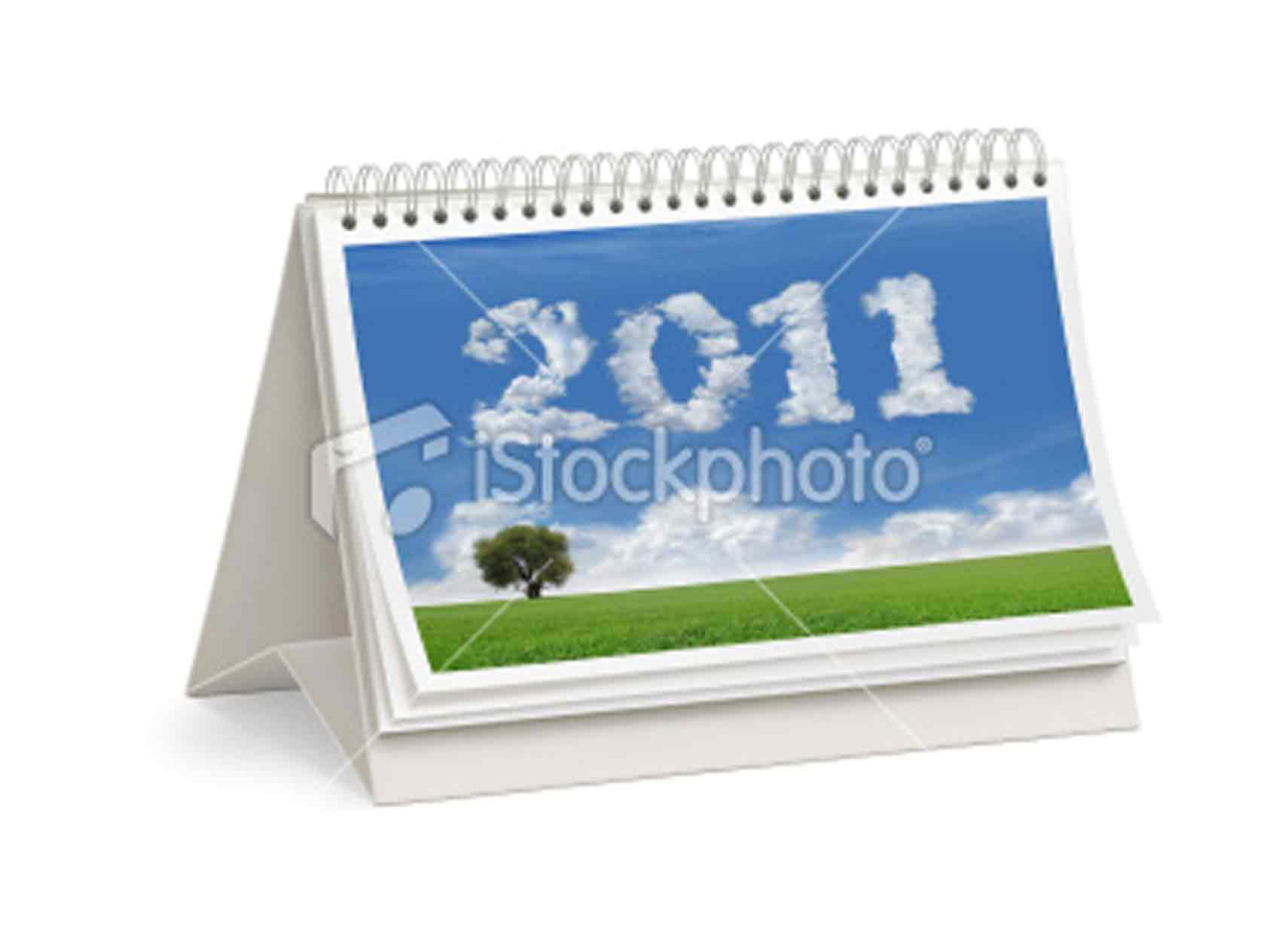 Calendar Cover : Ist  new year desktop calendar cover